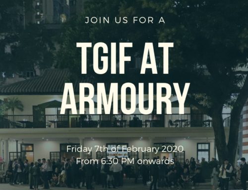 Cancelled – 7 Feb: TGIF at Armoury